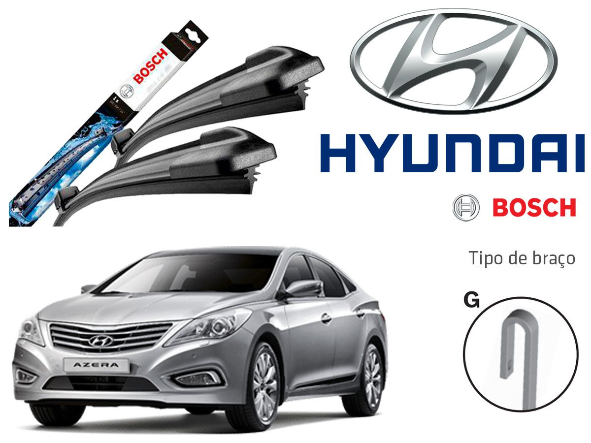 Jogo Palheta Dianteira Bosch Hyundai Azera 2012 a 2018