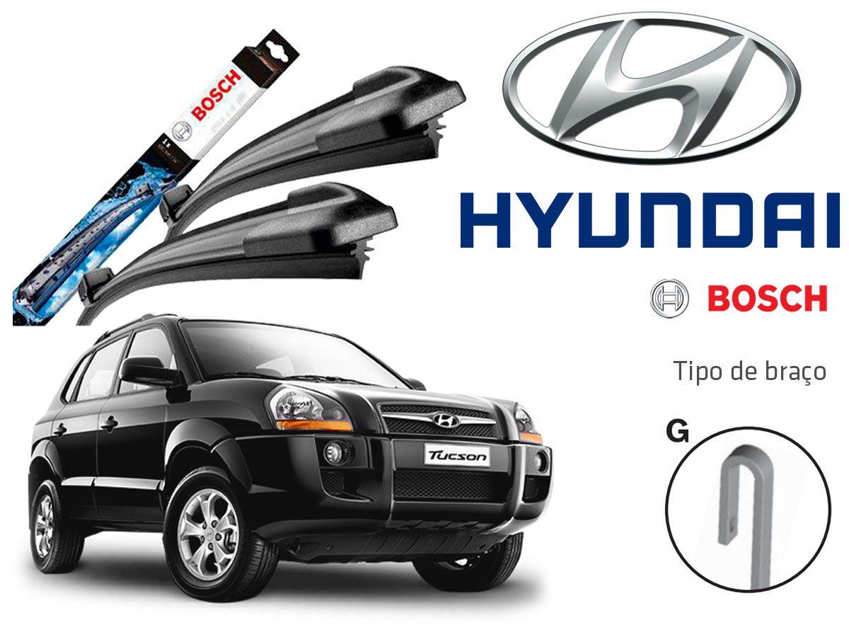 Jogo Palheta Dianteira Bosch Hyundai Tucson 2004 a 2017