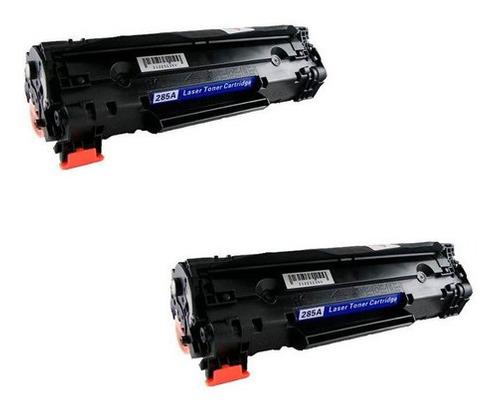 KIT 2 Toner Compatível CE285A CB435A CB436A UNIVERSAL 85A | P1005 P1505 M1120 M1212 M1130 P1102w 1102w 1102