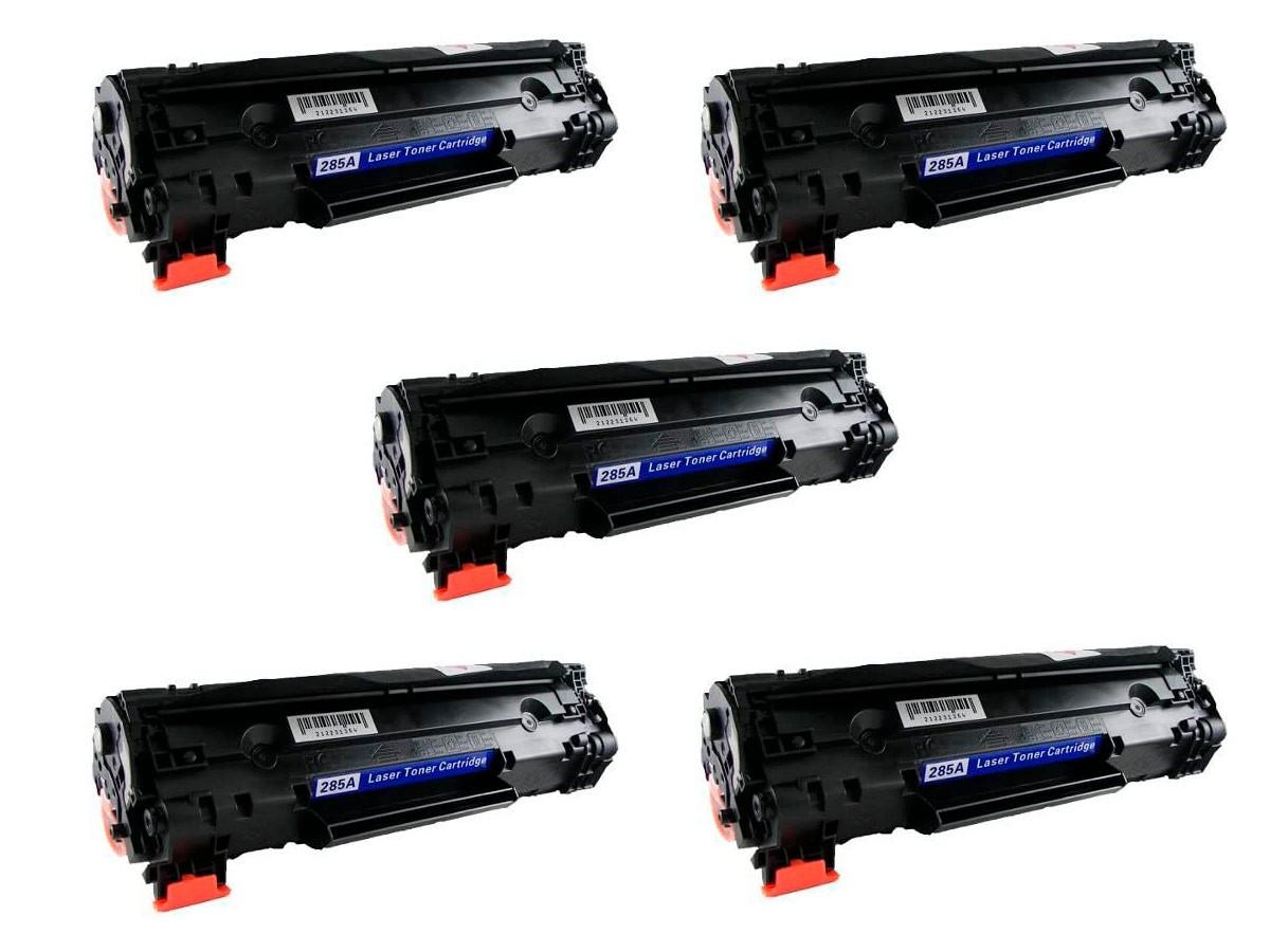 KIT 5 Toner Compatível CE285A CB435A CB436A UNIVERSAL 85A | P1005 P1505 M1120 M1212 M1130 P1102w 1102w 1102