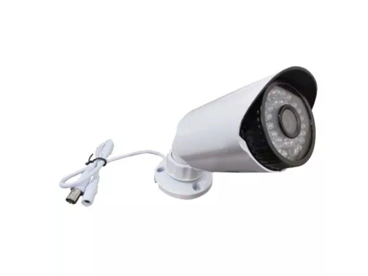 Kit Cftv 1 Câmera com Dvr 4ch 5x1 Full Hd e Fonte 5A