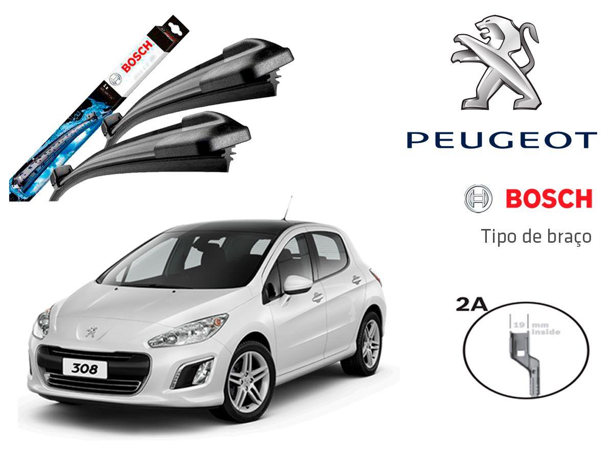 Palheta Limpador Parabrisa Bosch Peugeot 308 2012,2013,2014,2015,2016,2017,2018