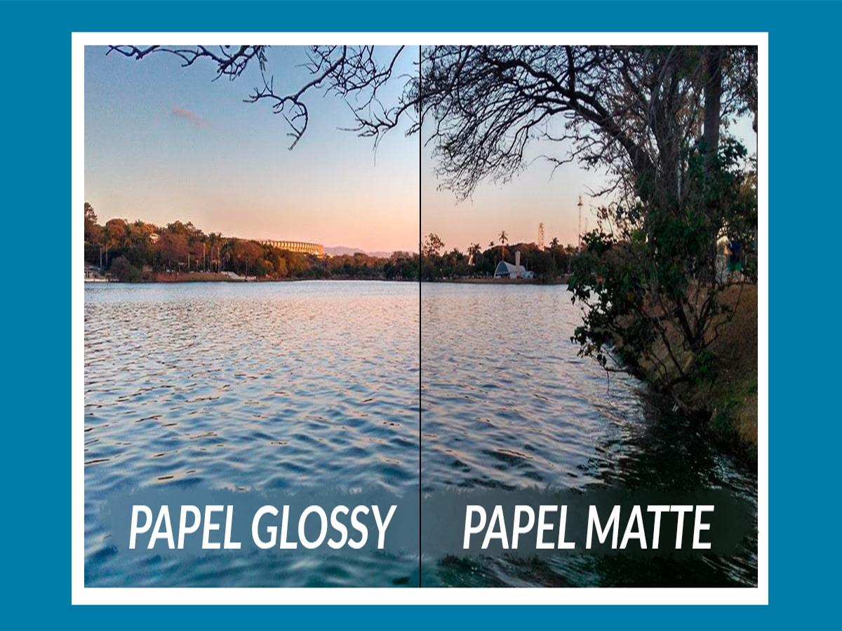 Papel Foto Adesivo Glossy A4 130G Branco Brilhante Resistente À Água / 50 Folhas