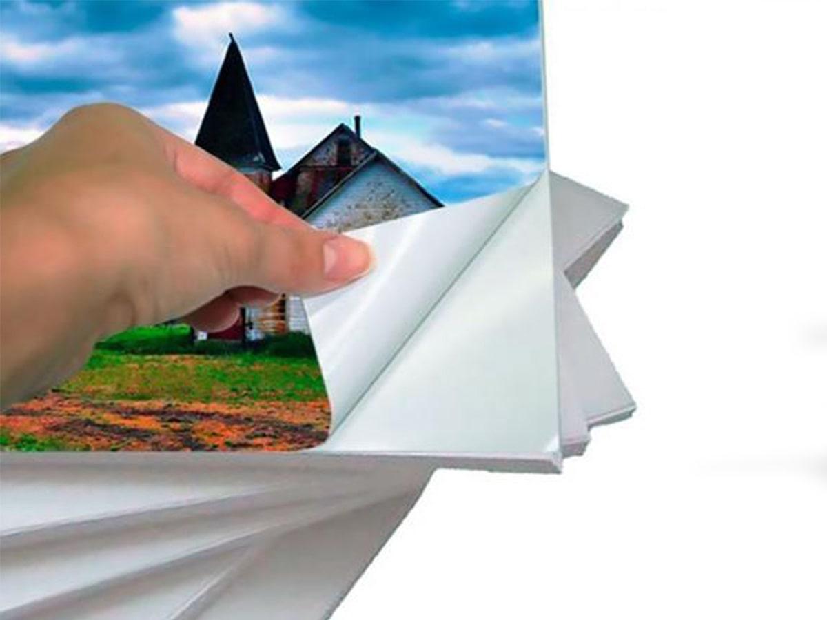 Papel Fotográfico A3 297Mm X 420Mm 230G Glossy Photo Paper Branco Brilhante Resistente À Água / 20 Folhas