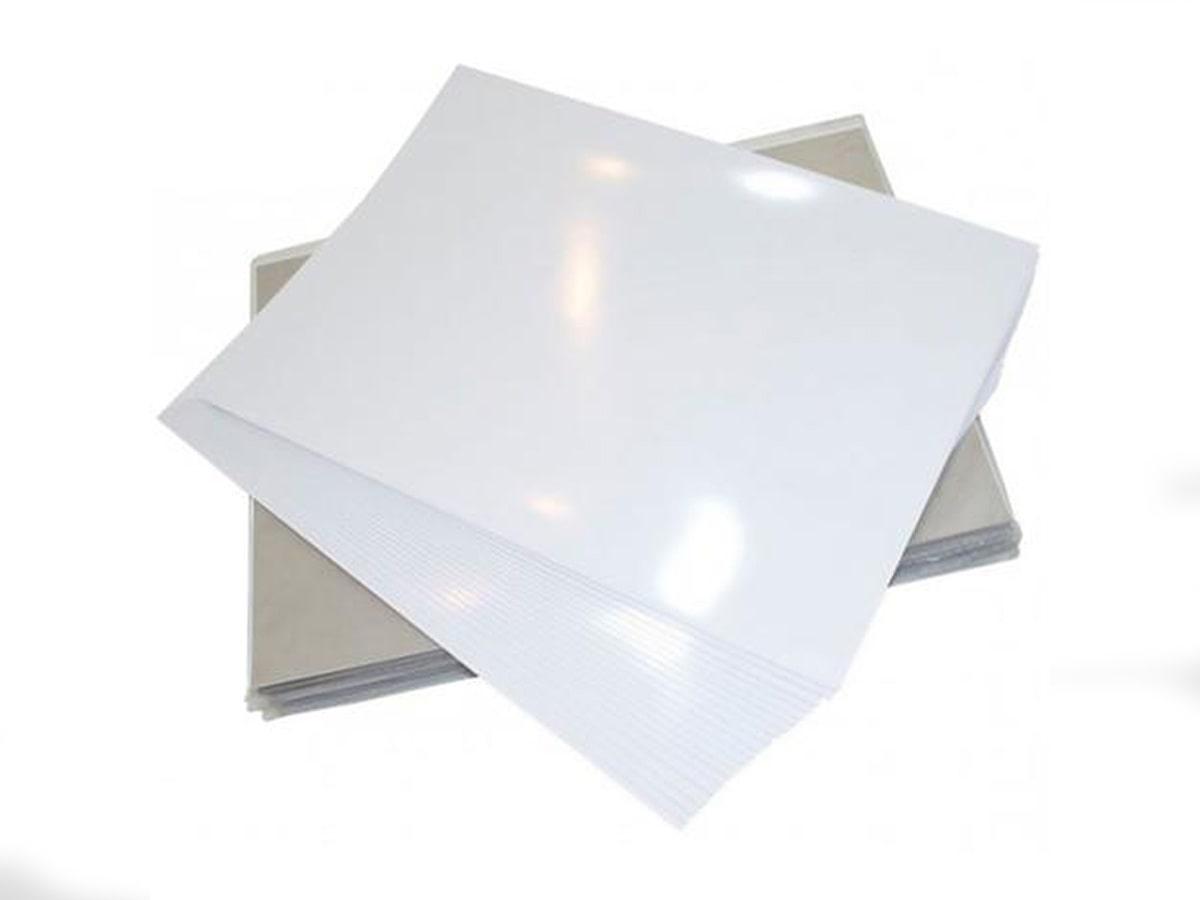 Papel Fotográfico A4 Dupla Face 180G Glossy Branco Brilhante Resistente À Água / 20 Folhas
