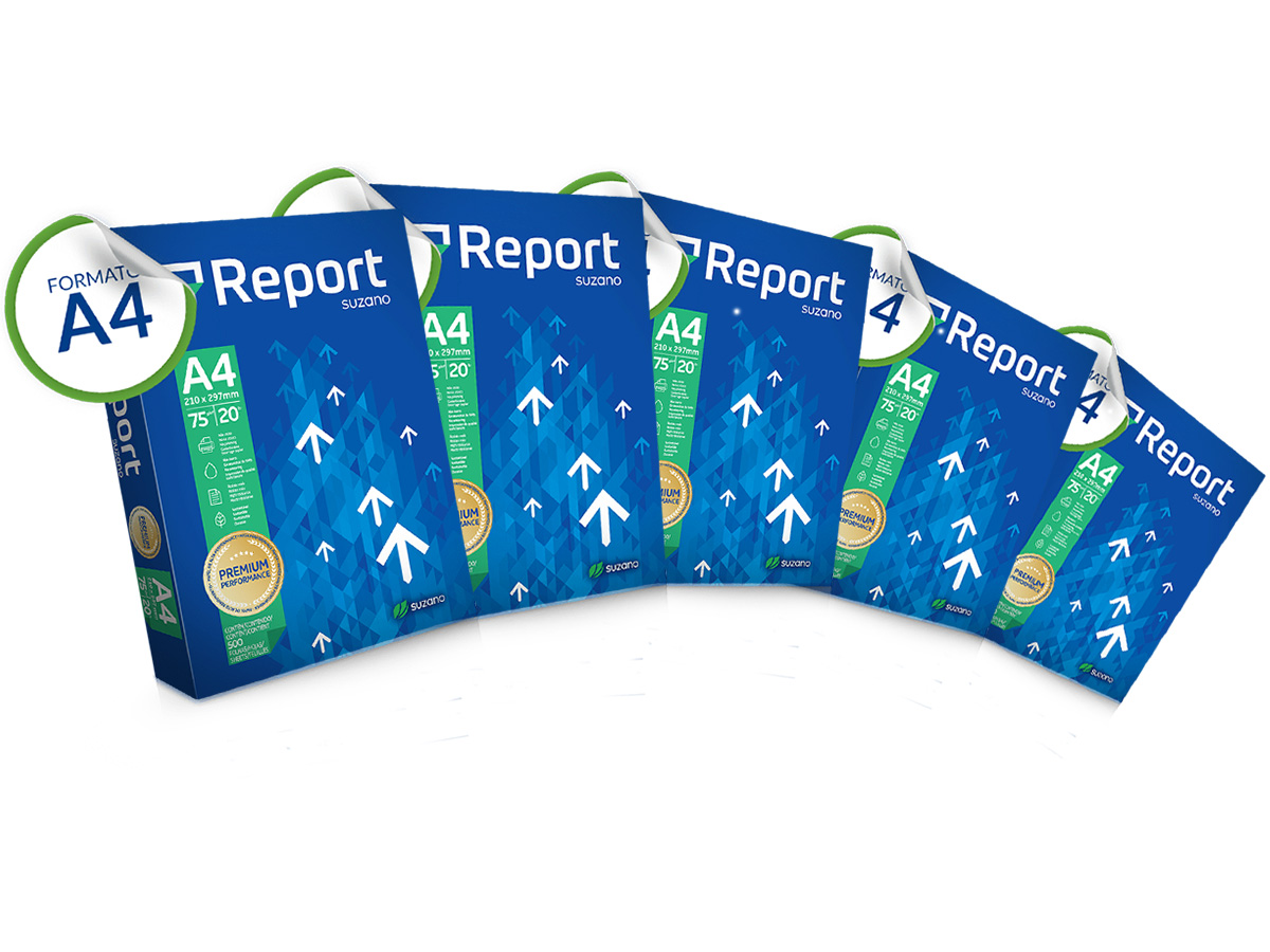 PAPEL SULFITE A4 REPORT PREMIUM 210X297 75GR 5000 FOLHAS