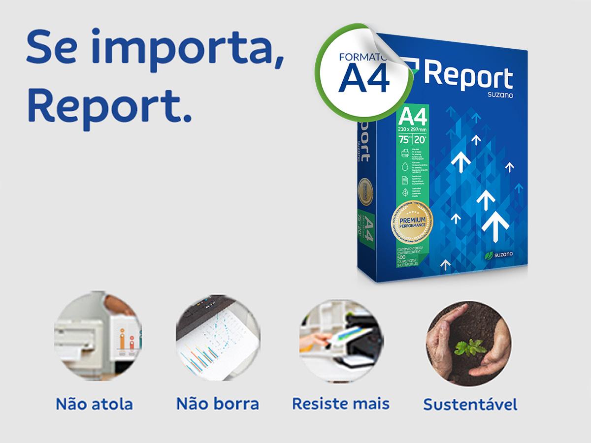 PAPEL SULFITE A4 REPORT PREMIUM 210X297 75GR 500 FOLHAS