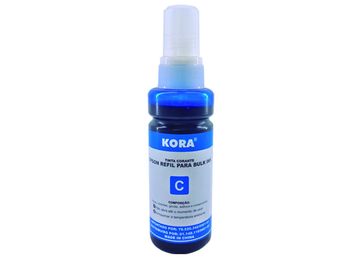 Refil de Tinta Azul / Cyan Compatível com Impressoras Epson L355, L365, L375, Ecotank - Kora