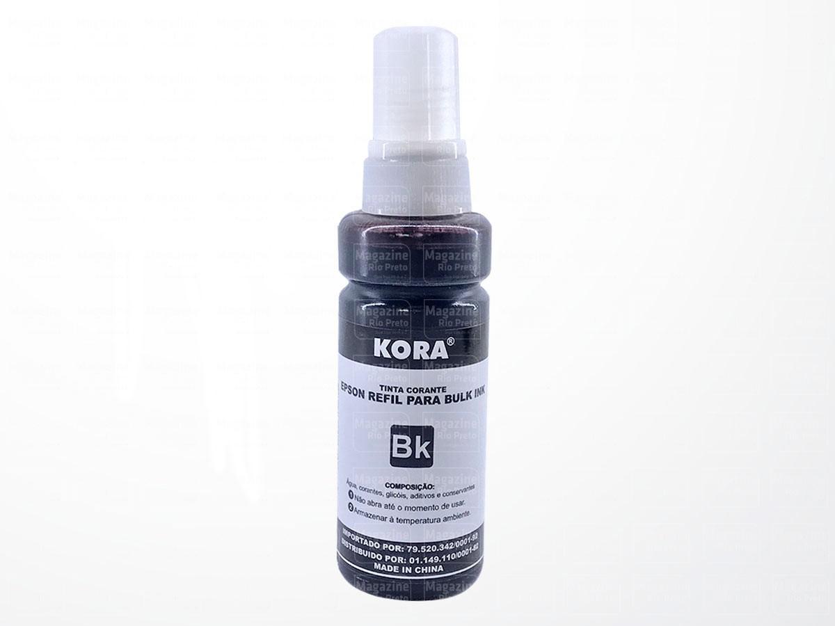 Refil de Tinta Preto / Black Compatível com Impressoras Epson L355, L365, L375, Ecotank - Kora