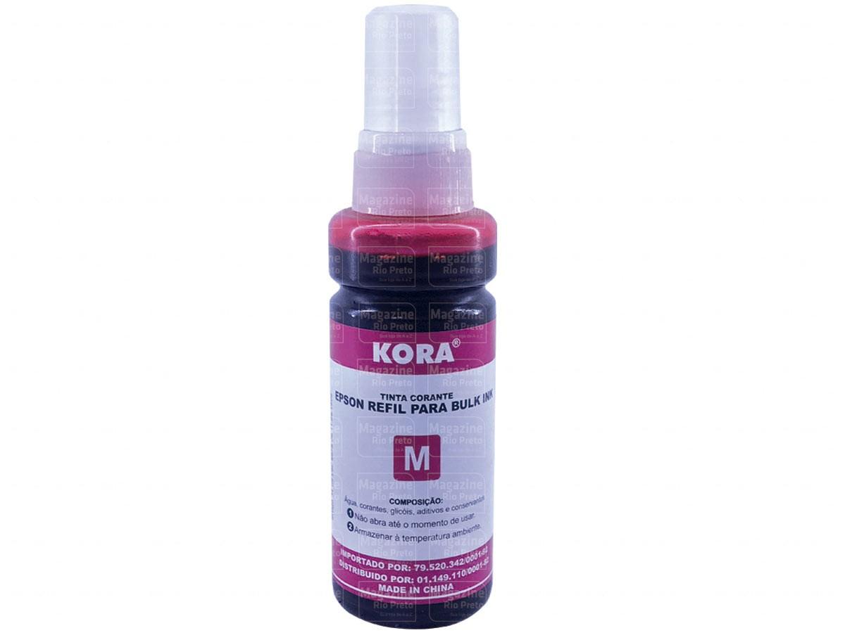 Refil de Tinta Vermelho / Magenta Compatível com Impressoras Epson L355, L365, L375, Ecotank - Kora