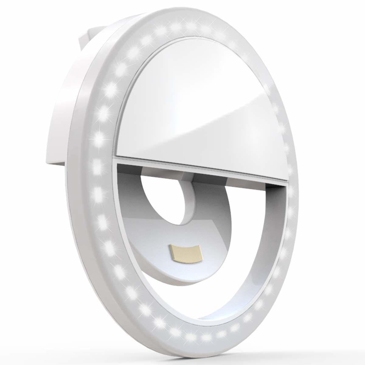 Ring Light LED Portátil Para Celular Com Bateria