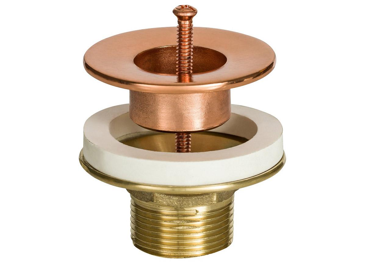 Válvula de Escoamento Cobre Rose Gold para Lavatório com Ajuste de Rosca