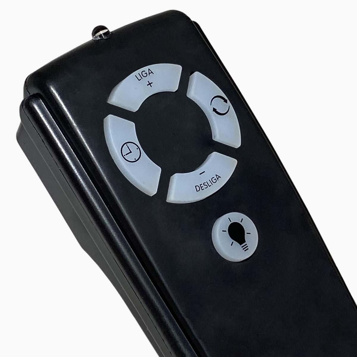 Ventilador de Teto 3 Pás Arge Branco Com Controle Protection Preto 110/127v
