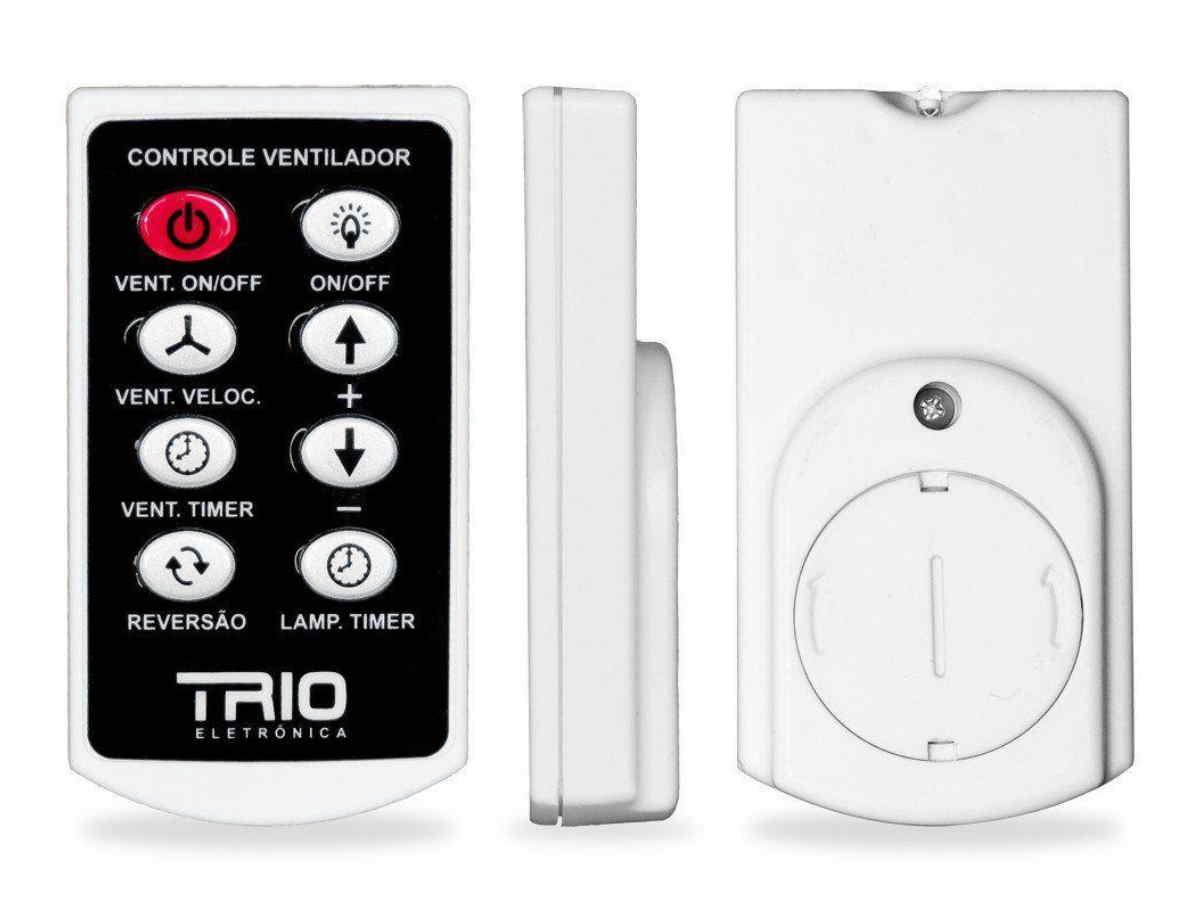 Ventilador de Teto Tron 3 Pás Mogno Corpo Preto 110/127V Com Controle Remoto