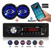 MP3 Player Doorbem Bluetooth + Par Alto Falantes Hurricane 6""
