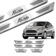 Soleira New Fiesta Hatch 2015 a 2020 - Inox Escovado