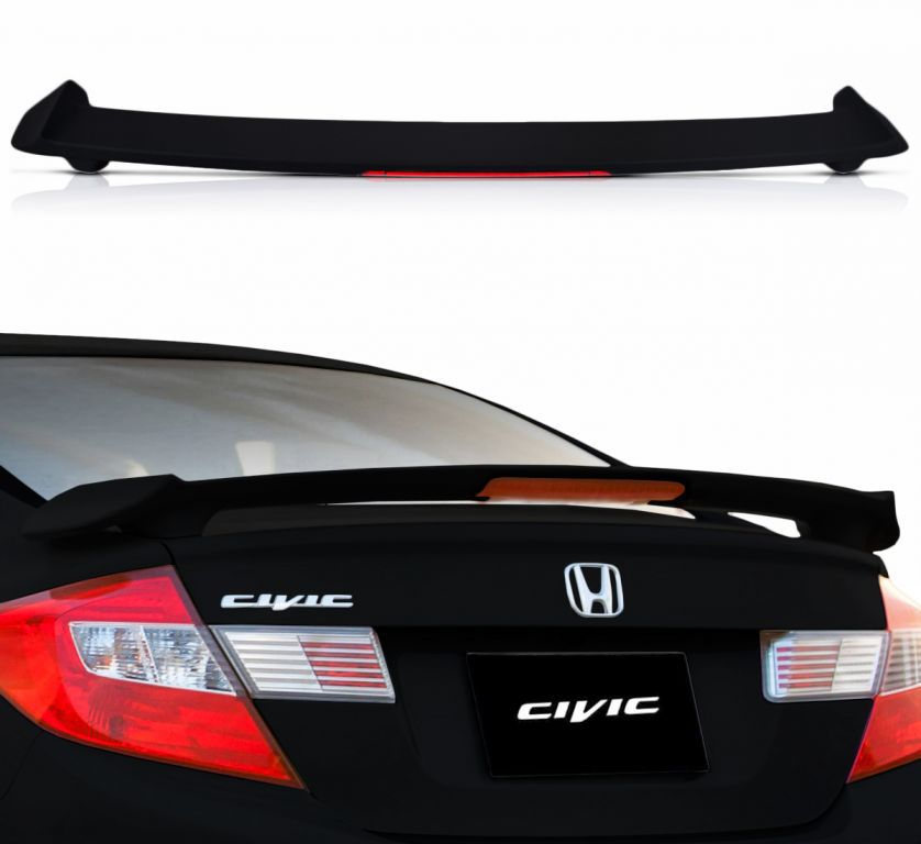 Aerofólio TG Poli Civic 12 15 C Break Light 30 Leds Preto