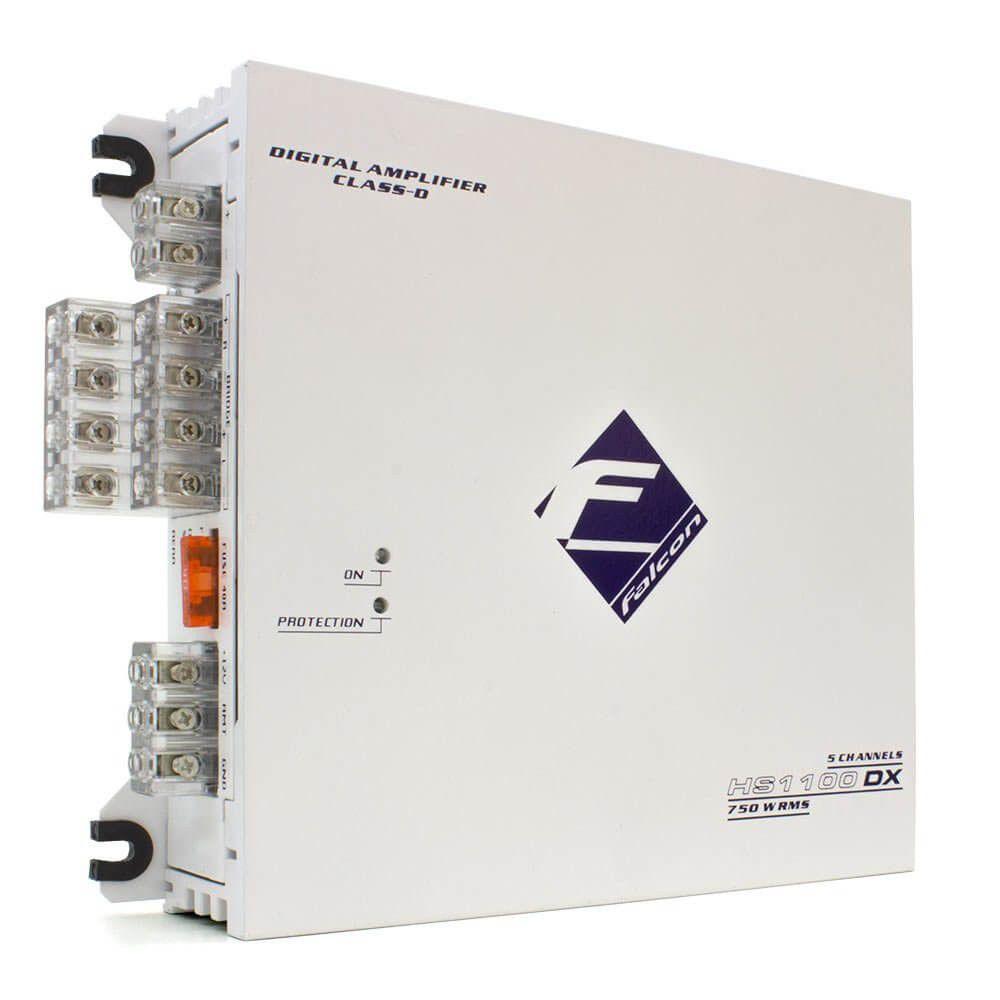 Amplificador Falcon HS1100DX 5 Canais 750W RMS Mono Stereo