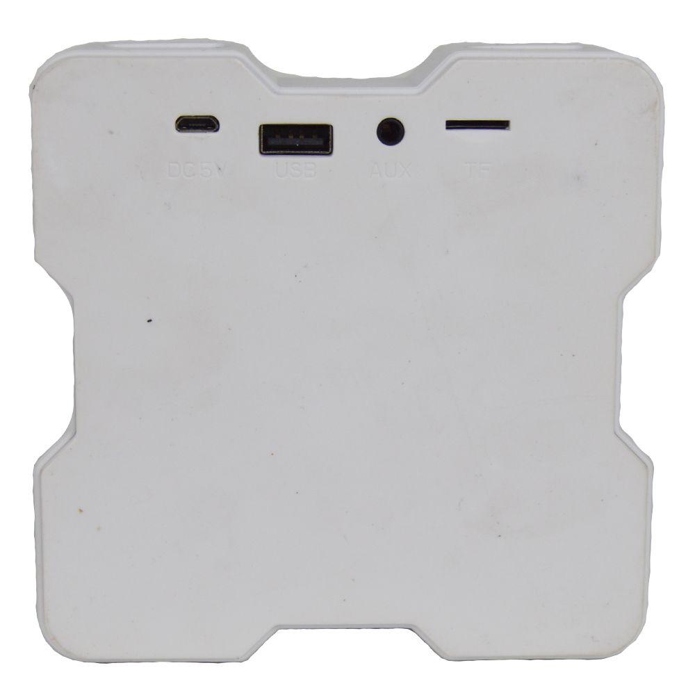 Caixa Acústica Bluetooth V1 LED Colorido - Branco
