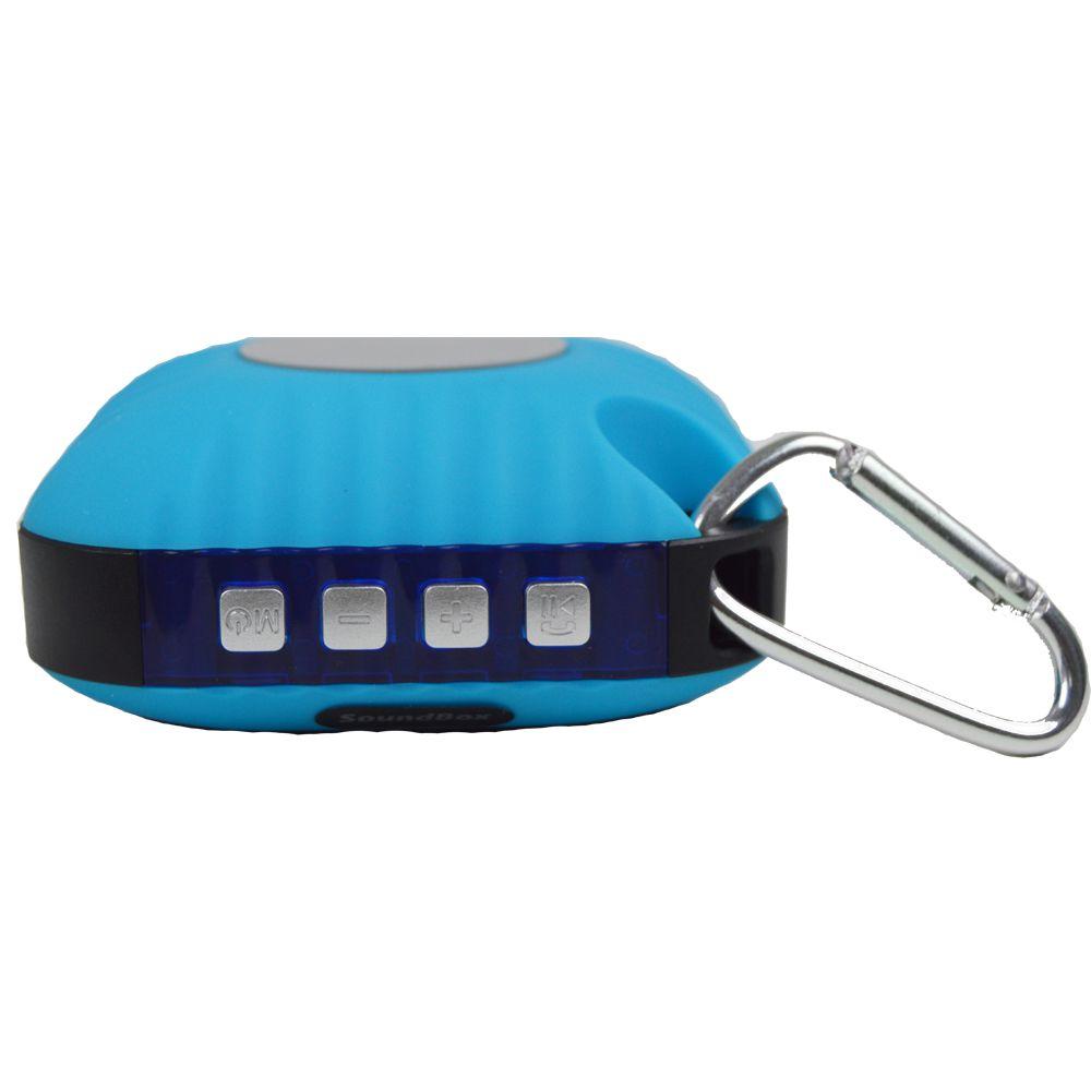 Caixa Acústica Bluetooth V4, Portátil com mini mosquetão