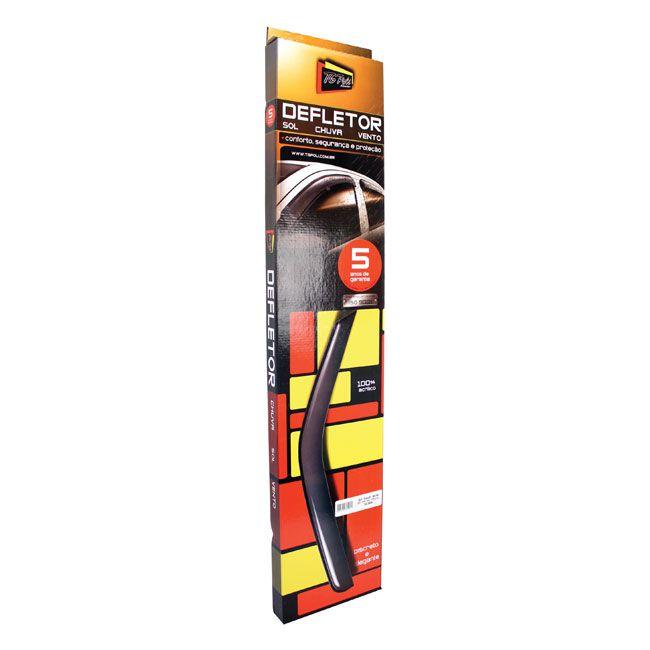 Calha de Chuva Defletor Gm Astra 1999 a 2011 2 Portas Acrílico Preto Fumê TG Poli 23010