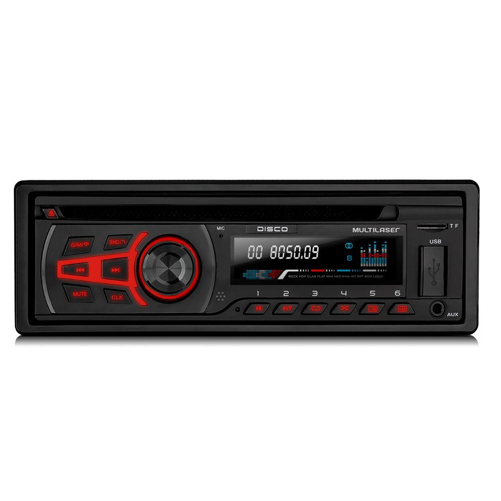 CD Player Multilaser Bluetooth BT - P3322 Com Pendrive de 8GB