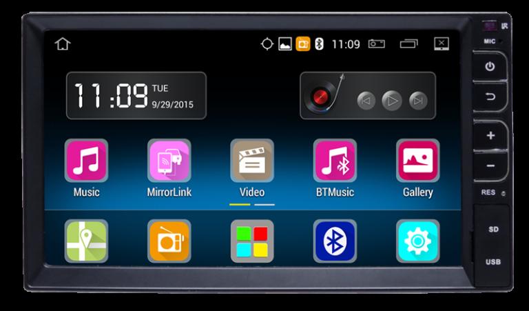 "Central Multimidia Caska 7"""" Universal Smartmidia Android"