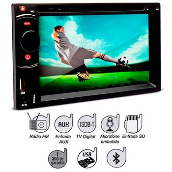 DVD Player Dazz 6,2 Pol Tv BT
