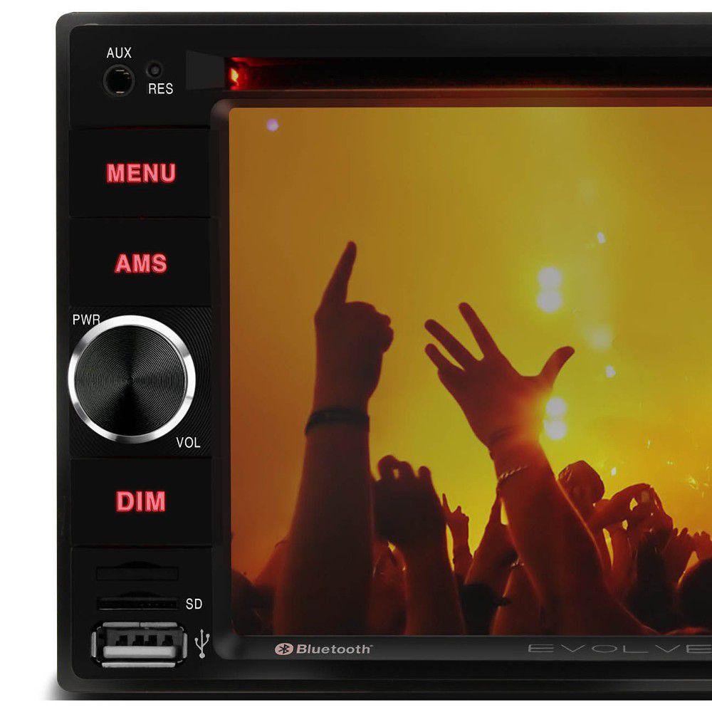 DVD Player Multilaser Evolve Light 6,2 BT Espelhamento