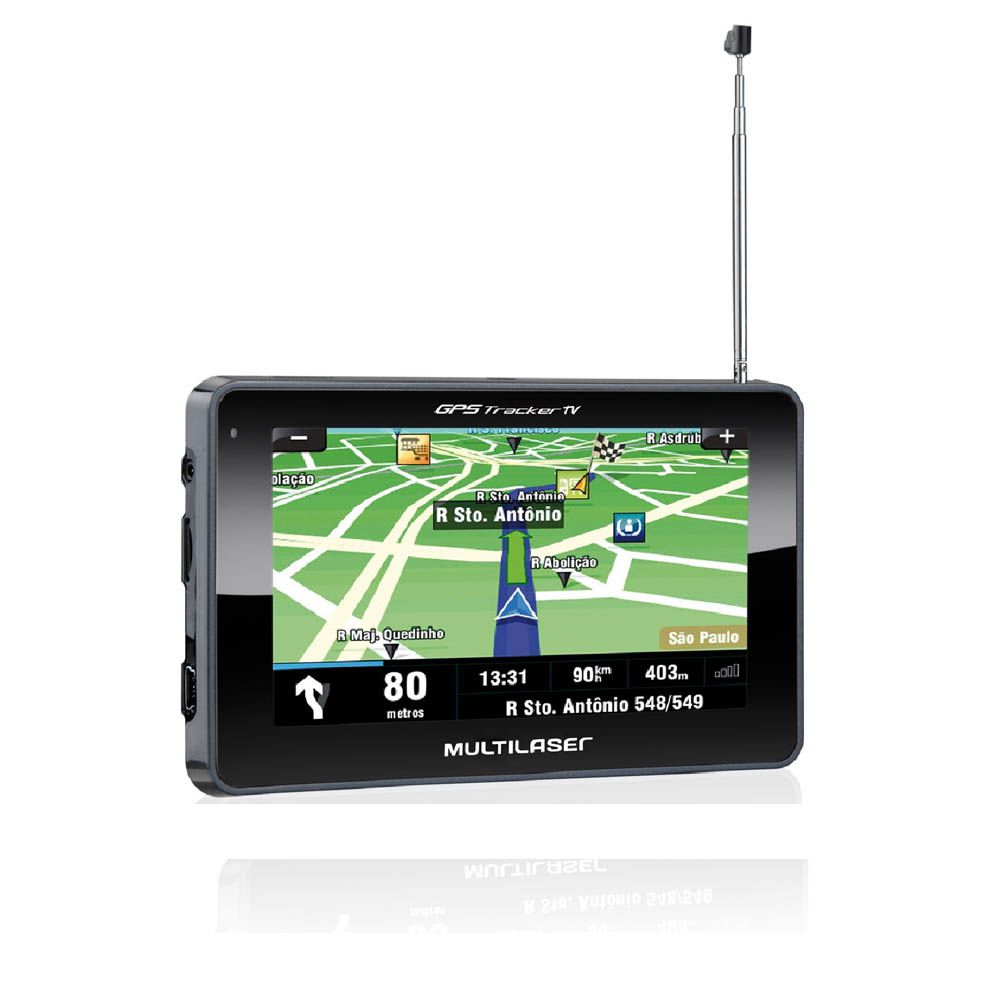 Gps Multilaser Tracker 2 Tela 4,3 Pol Tv Digital