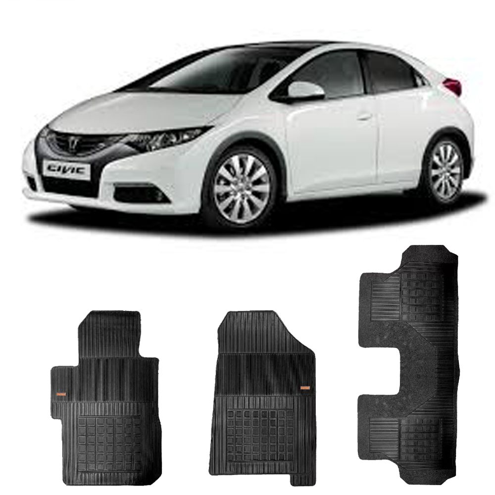 Kit Tapete Borracha Borcol Civic A Partir 2013 + Porta Malas