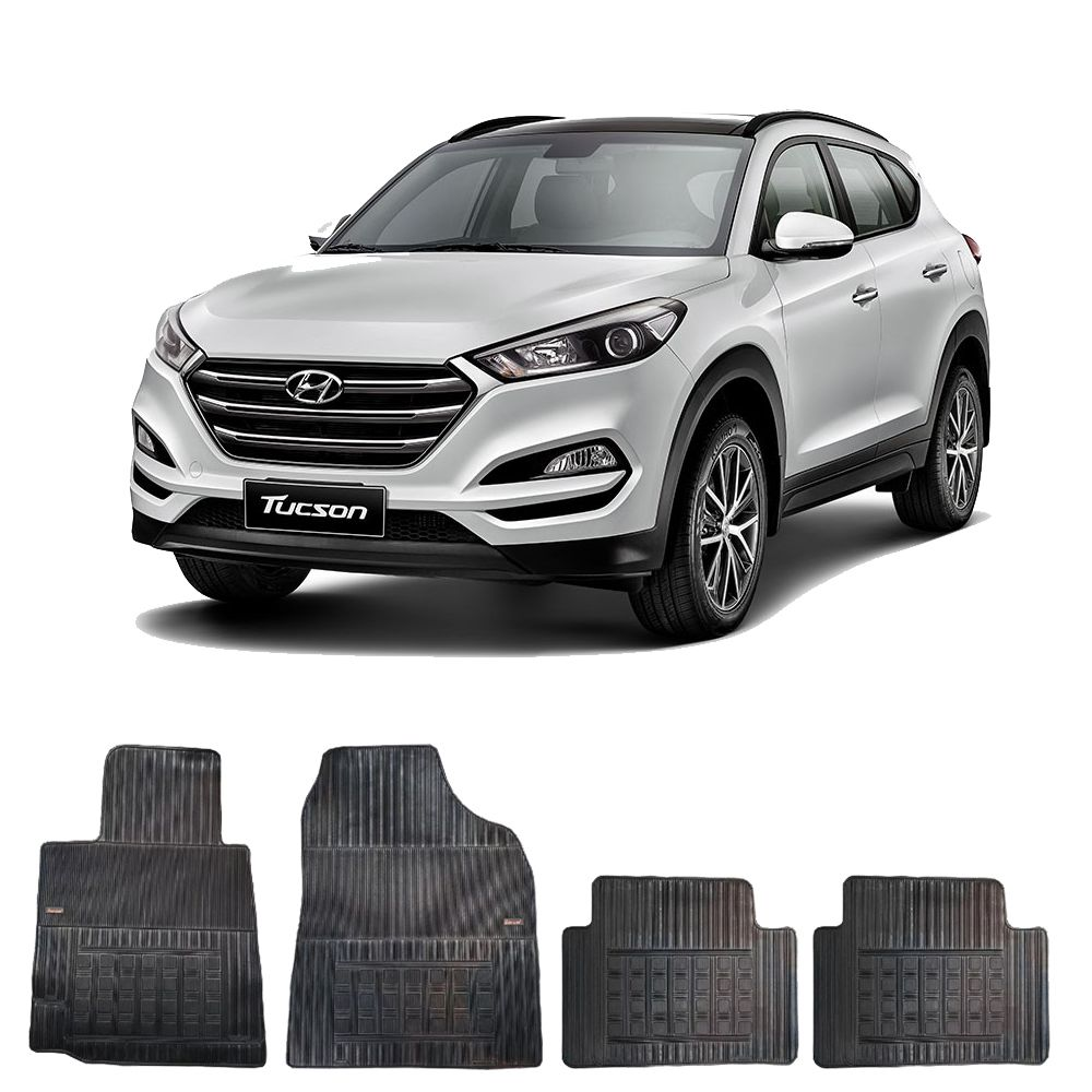 Kit Tapete Borracha Borcol New Tucson + Porta Malas