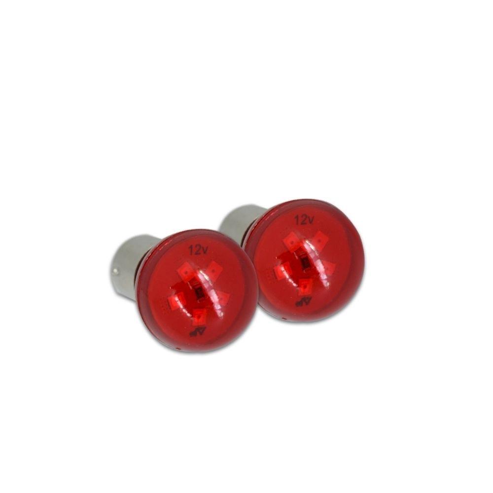 Lâmpada Led Bulb BA15S 3W 12V Vermelho