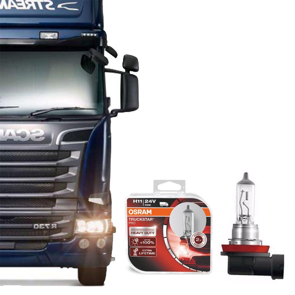 Lâmpada Osram H11 24V 70W Truckstar Pro
