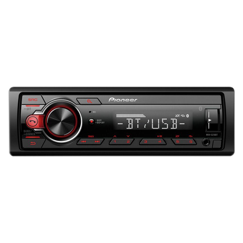 MP3 Player Pioneer MVH-S218BT USB Entrada Auxiliar Bluetooth