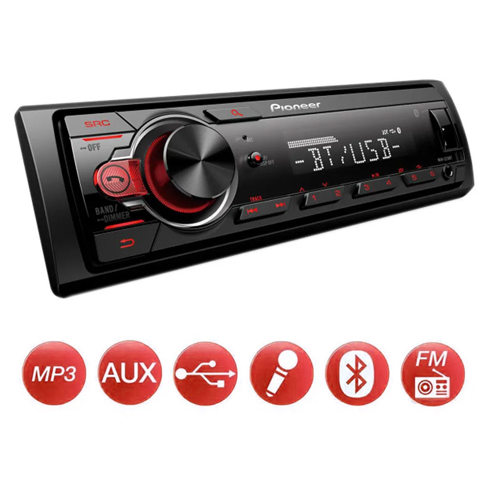 MP3 Player Pioneer MVH-S218BT USB Entrada Auxiliar Bluetooth