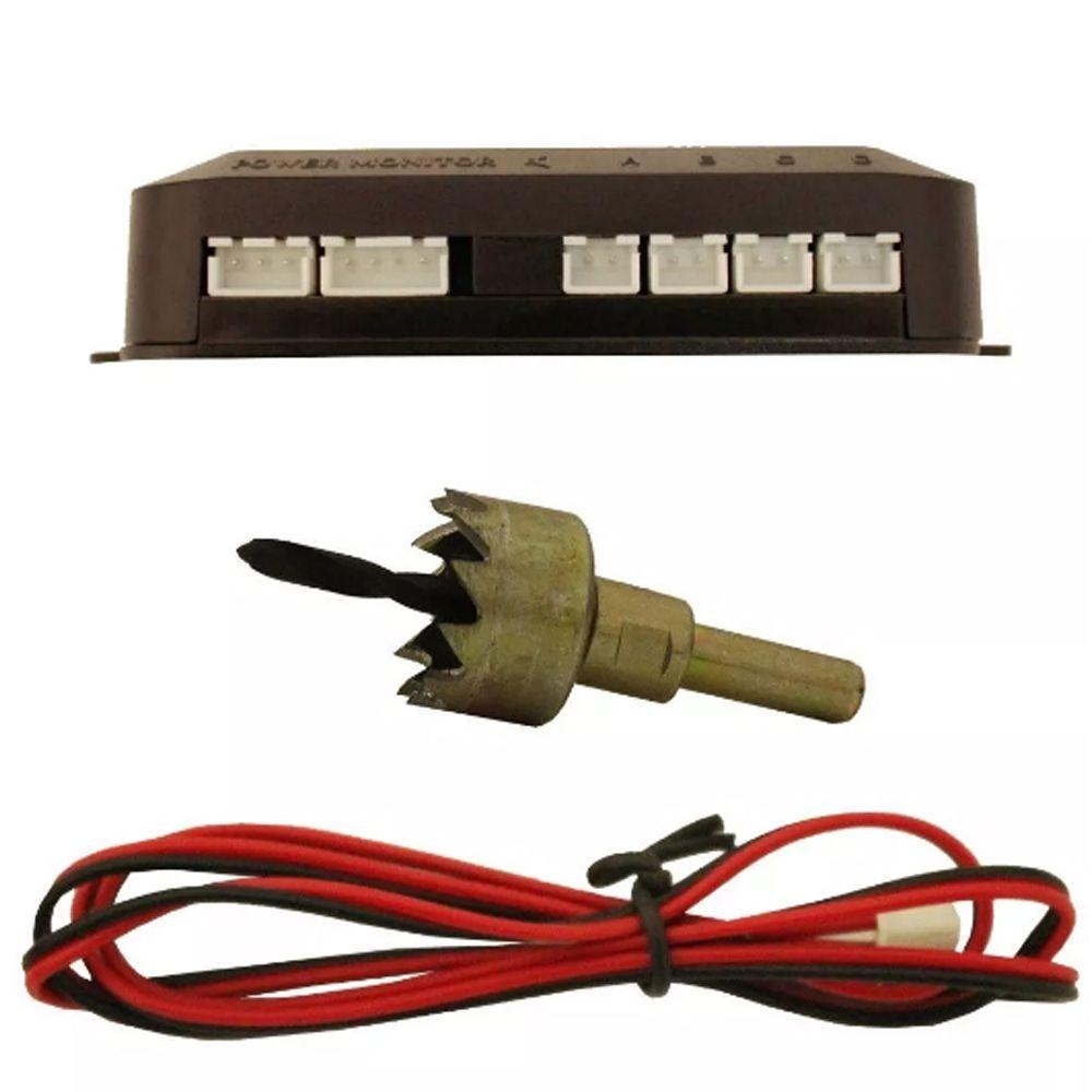 Sensor De Estacionamento 04 Pontos Prata