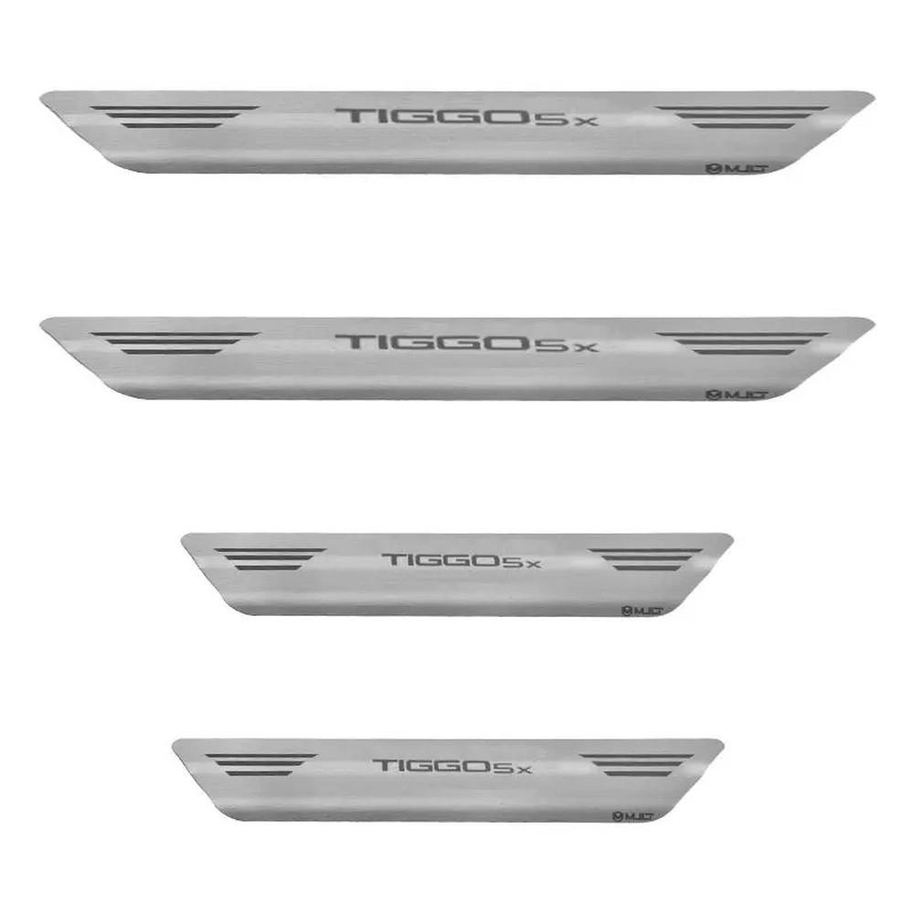 Soleira Tiggo 5X - Aço Inox Escovado