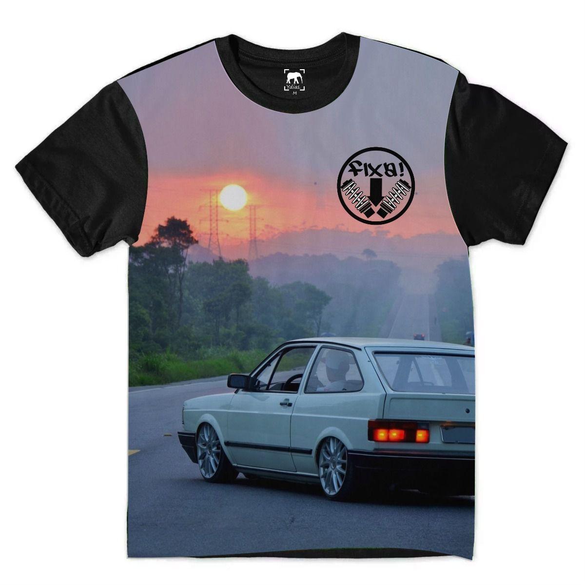 Camiseta Gol Quadrado Carro Rebaixado Sunset Fixa Chora Boy