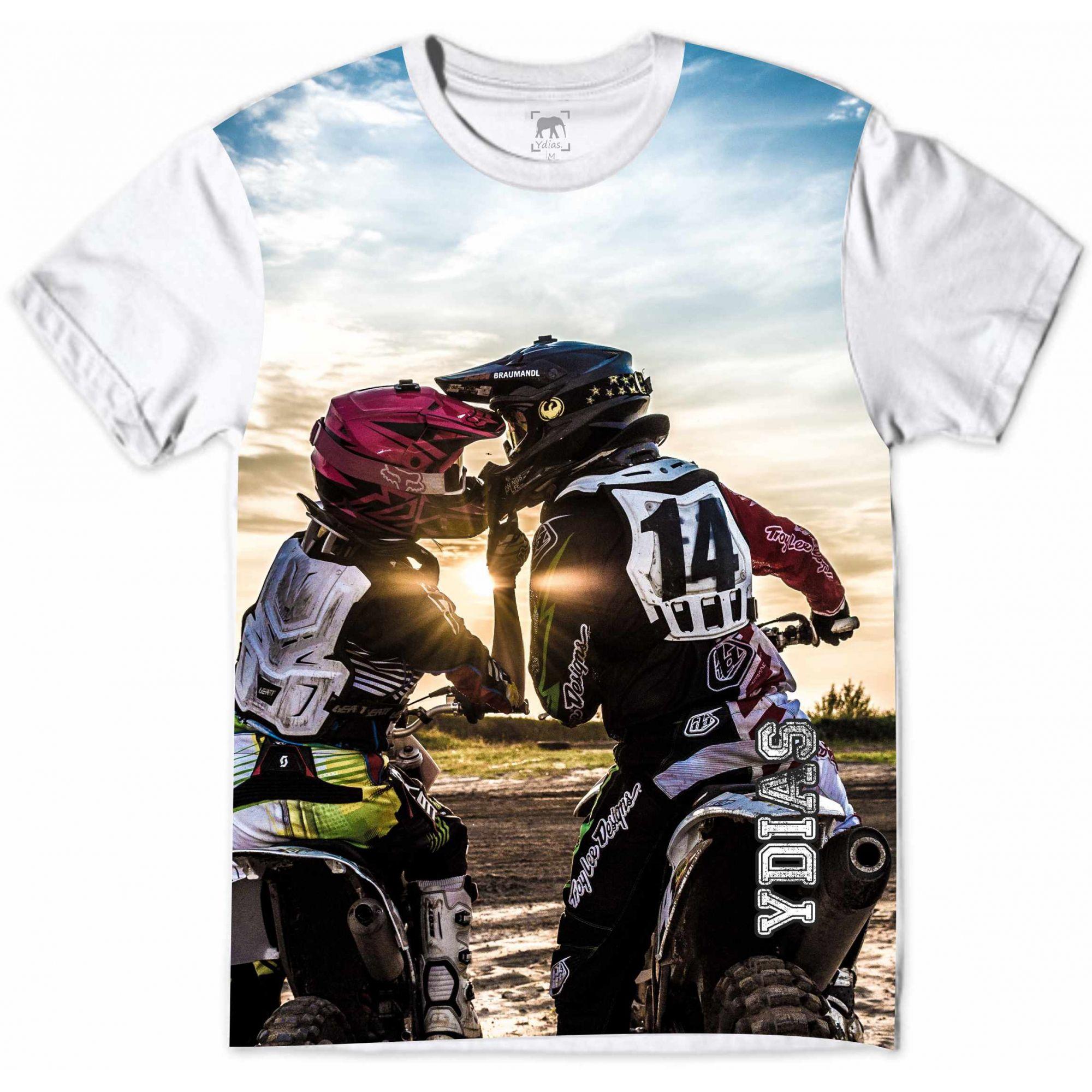 Camiseta Motocross Casal Apaixonado Sunset Ydias Store A Maior