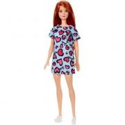 Barbie Fashion Ruiva Vestido Azul Mattel