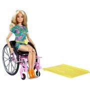 Barbie Fashionista Loira com Cadeira de Rodas Mattel 165