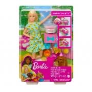 Barbie Festa Do Filhote Com Cachorrinho GXV75 Mattel