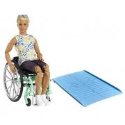 Barbie Ken Loiro com Cadeira de Rodas Mattel 167