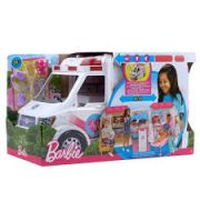 Barbie Real Hospital Movel Ambulancia Frm19 Mattel