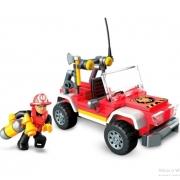 Blocos de Encaixe Mega Construx  Wonder Builders  Caminhão de Bombeiros Mattel GLK53