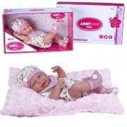Boneca anny doll Baby macacão/babador