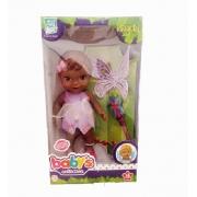 Boneca Babys Collection Fada Negra Super Toys