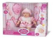 Boneca Bebê Jensen Alergic rosa e branco com Acessórios Roma Brinquedos