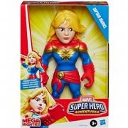 Boneca Mega Mighties Super Hero Capitã Marvel E7933